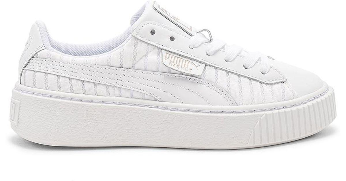 Puma Basket Platform Ep Sneaker in White - Lyst 1995f11eb