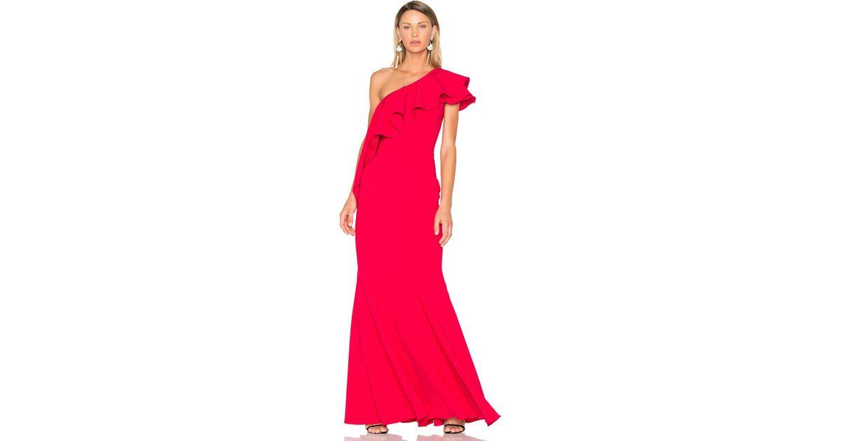 de2ffbc7707 Lyst - Jay Godfrey Taj Gown in Red