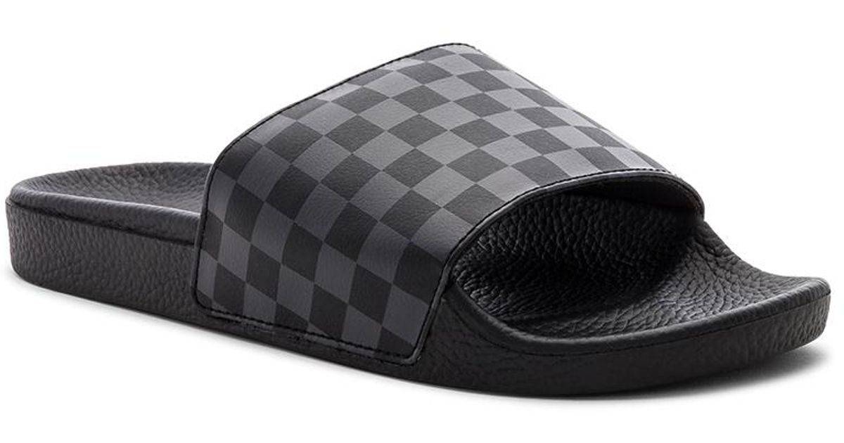 654a7c1e2ab5 Vans Checkerboard Slide-on in Black for Men - Lyst
