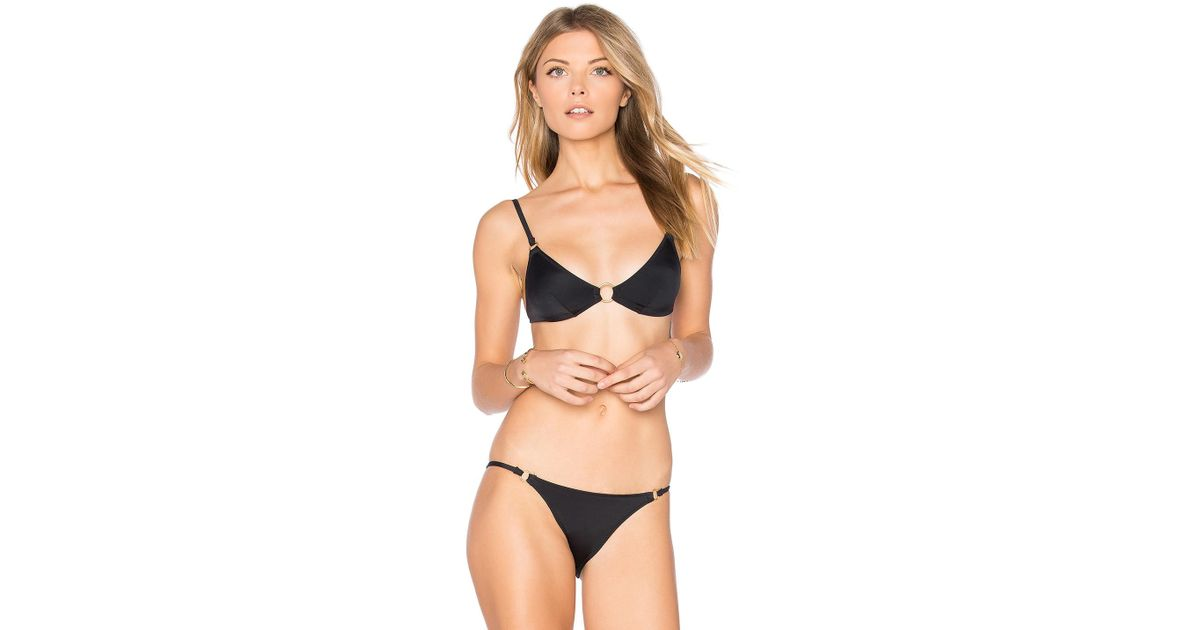 ba85b92042cfd Solid & Striped - Black The Tilda Bikini Top - Lyst