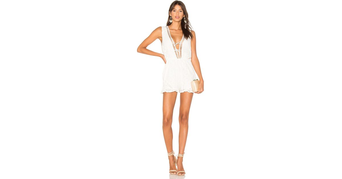 bd0cf8e248f Lyst - MINKPINK Palace Playsuit in White