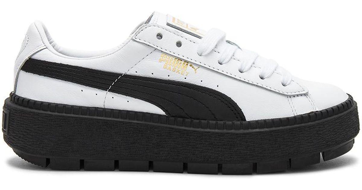 dea9a4241ec3 Lyst - PUMA Platform Trace L Sneaker in Black