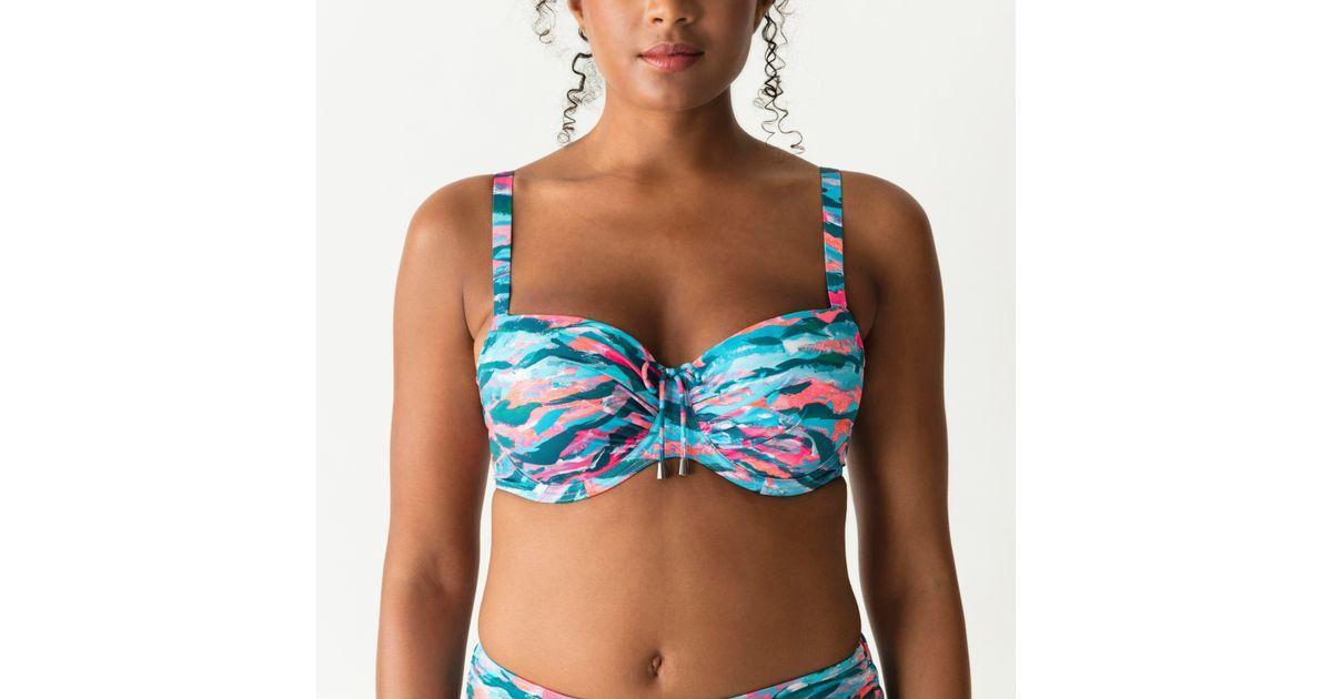 db1448cb18d Primadonna Preshaped Bikini Top in Blue - Lyst