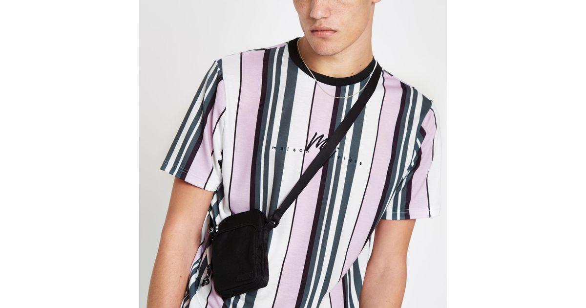 3e738ecc19e499 River Island Stripe  maison Riviera  Slim Fit T-shirt in Pink for Men - Lyst
