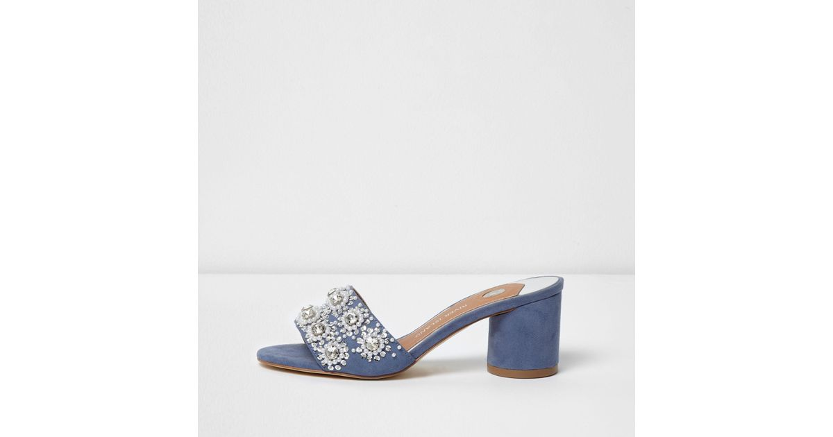 River Island block heeled mule discount recommend discount really ff5AlvzA