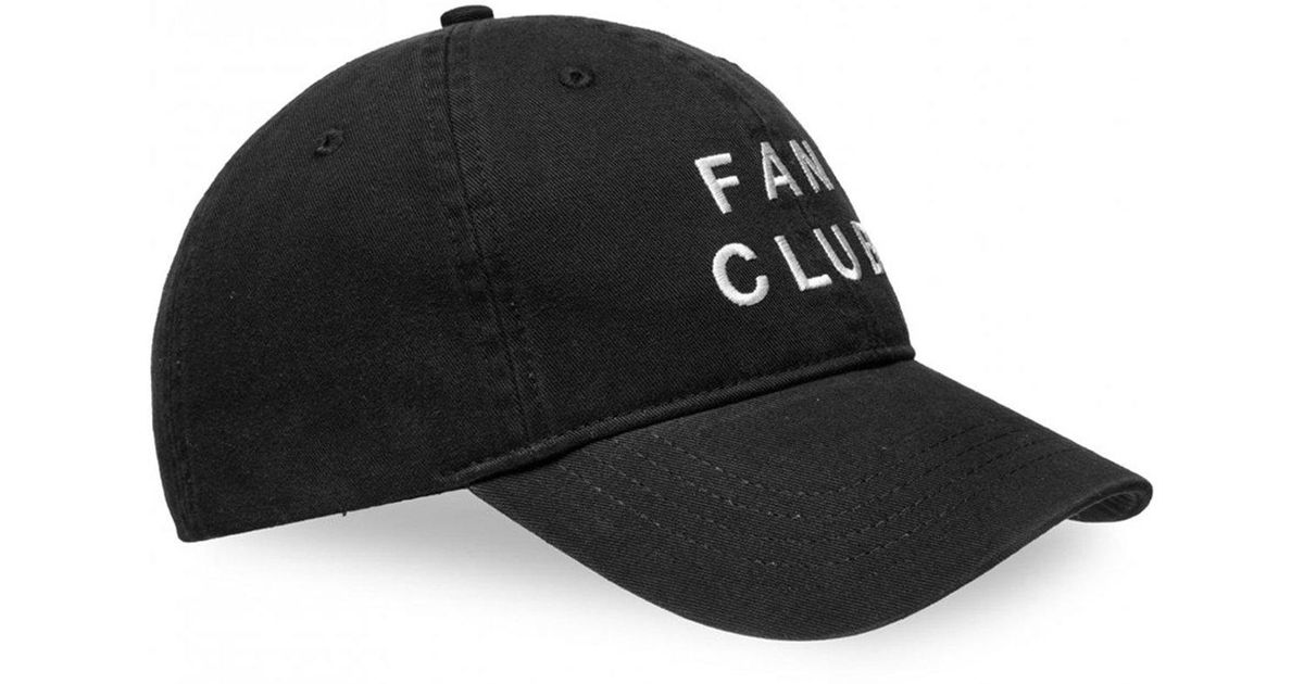 3c35dda1af1 Lyst - WOOD WOOD Fan Club Capsule Low Profile Cap in Black for Men