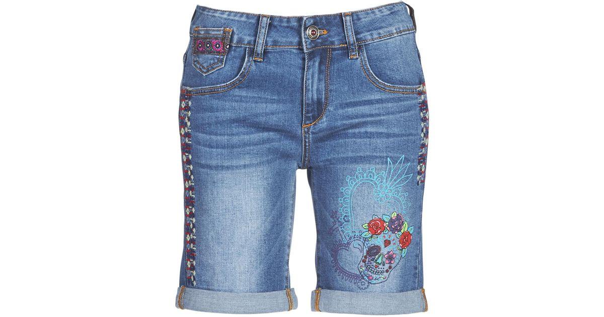 Shorts Desigual Lyst In Catrina Blue PqAzBZw 8a513a85c52