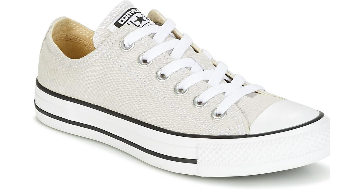 3c3f75d0c46cb8 Converse Chuck Taylor All Star Seasonal Color Ox Seasonal Color Ox Pale P  Shoes (trainers) in Natural - Lyst
