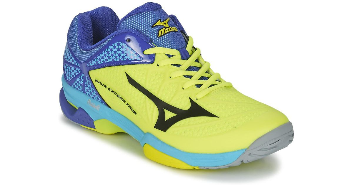 huge discount 95eed 483e5 Mizuno Wave Exceed Tour 2 Cc Tennis Trainers (shoes) in Yellow for Men -  Lyst