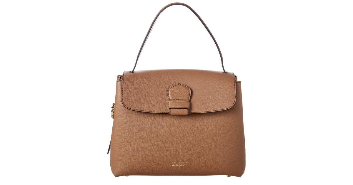 7a769168d47a Lyst - Burberry Medium Leather   House Check Canvas Tote in Brown