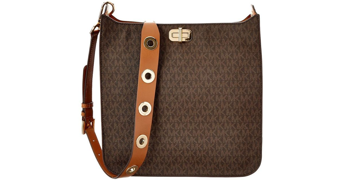 317de94625b9 Lyst - Michael Michael Kors Sullivan Signature Large North/south Messenger
