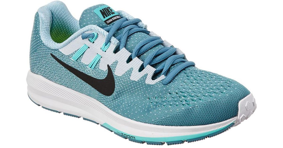 Nike Blue Women's Air Zoom Structure 20 Running Shoe Lyst