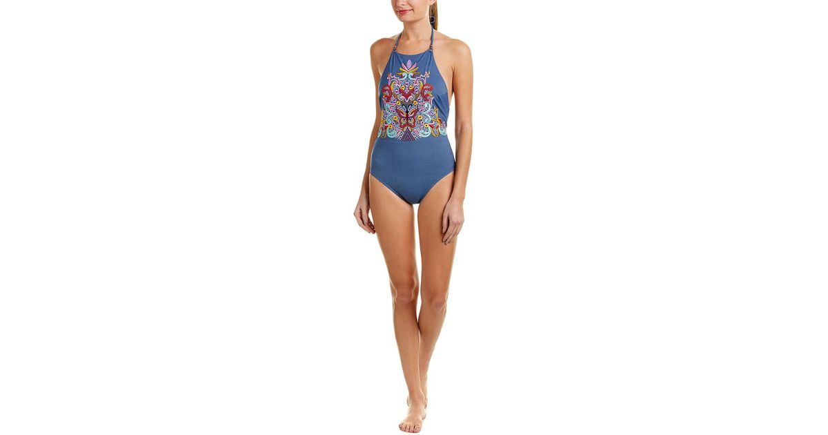 9a989714fcf6 Nanette Lepore Dazed Denim Seductress One-piece in Blue - Save 64% - Lyst