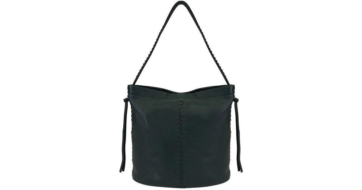 00668255fa Lyst - Kooba Limon Leather Bucket Bag in Black