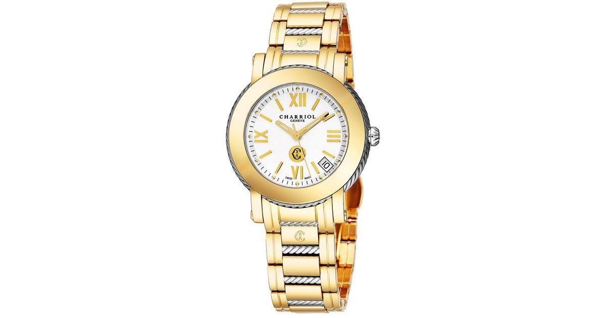 60364a1b34d Charriol Women s Parisi Watch in Metallic for Men - Lyst