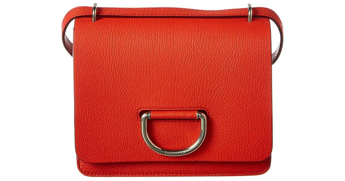 Burberry Small D-ring Leather Crossbody in Red - Lyst ec7fdcd31e0fc