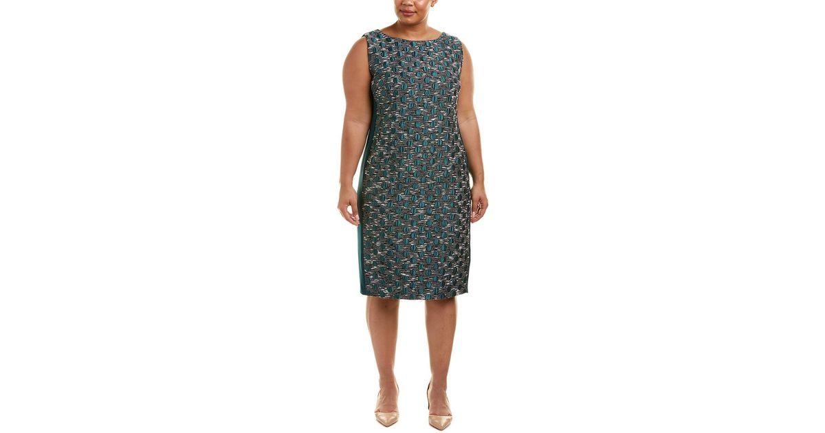 fde7520227e Marina Rinaldi Voyage By Plus Shift Dress in Green - Lyst