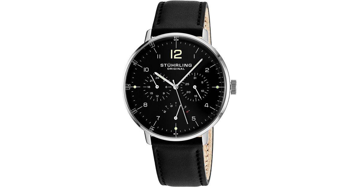 Lyst Stuhrling Original Men S Monaco Watch In Black For Men Save 11
