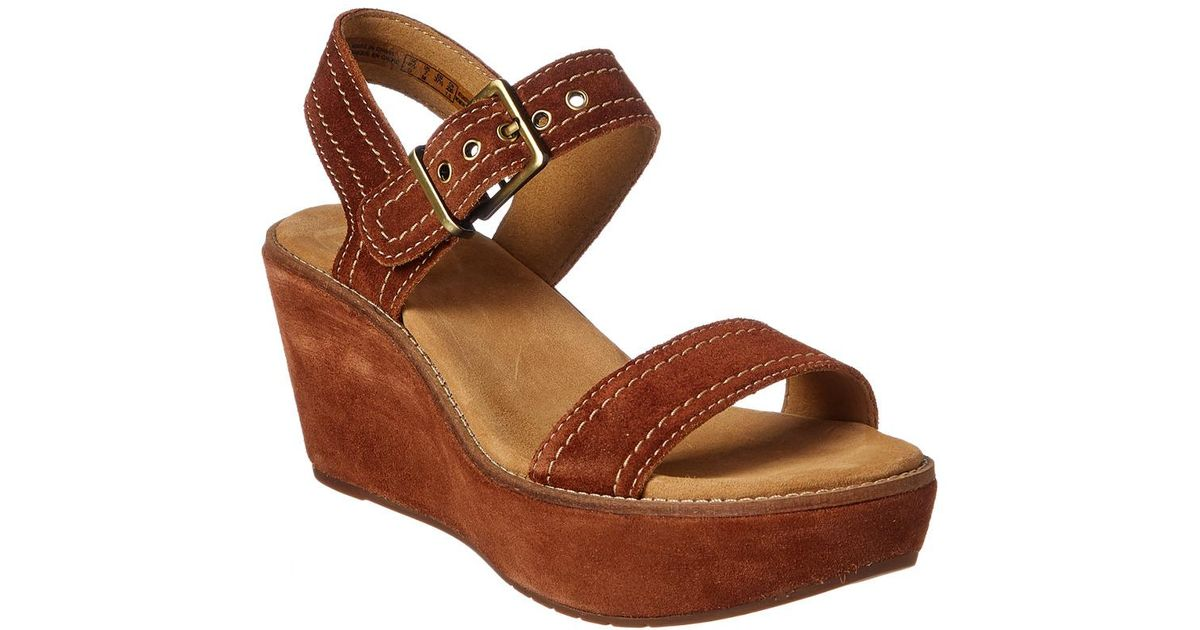 6fa28cd96f13 Lyst - Clarks Artisan Aisley Orchid Wedge Sandal in Brown