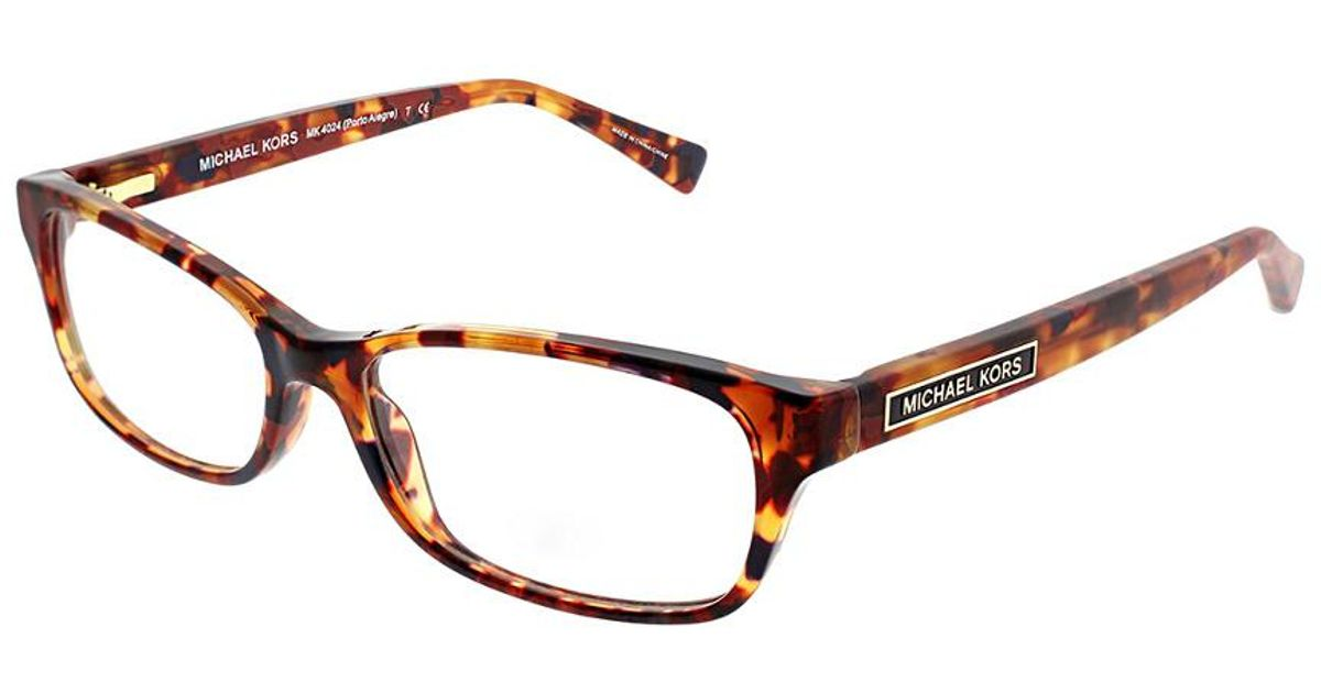 Michael Kors Rectangle 53mm Optical Frames in Brown - Lyst