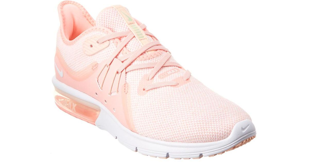 88cdc80e2f2 Nike Air Max Sequent 3 Running Shoe in Pink - Save 2% - Lyst