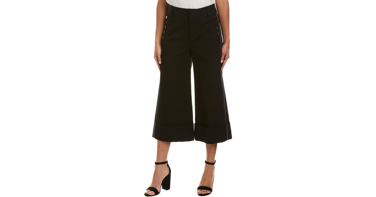10 Crosby Derek Lam Button Pant In Black