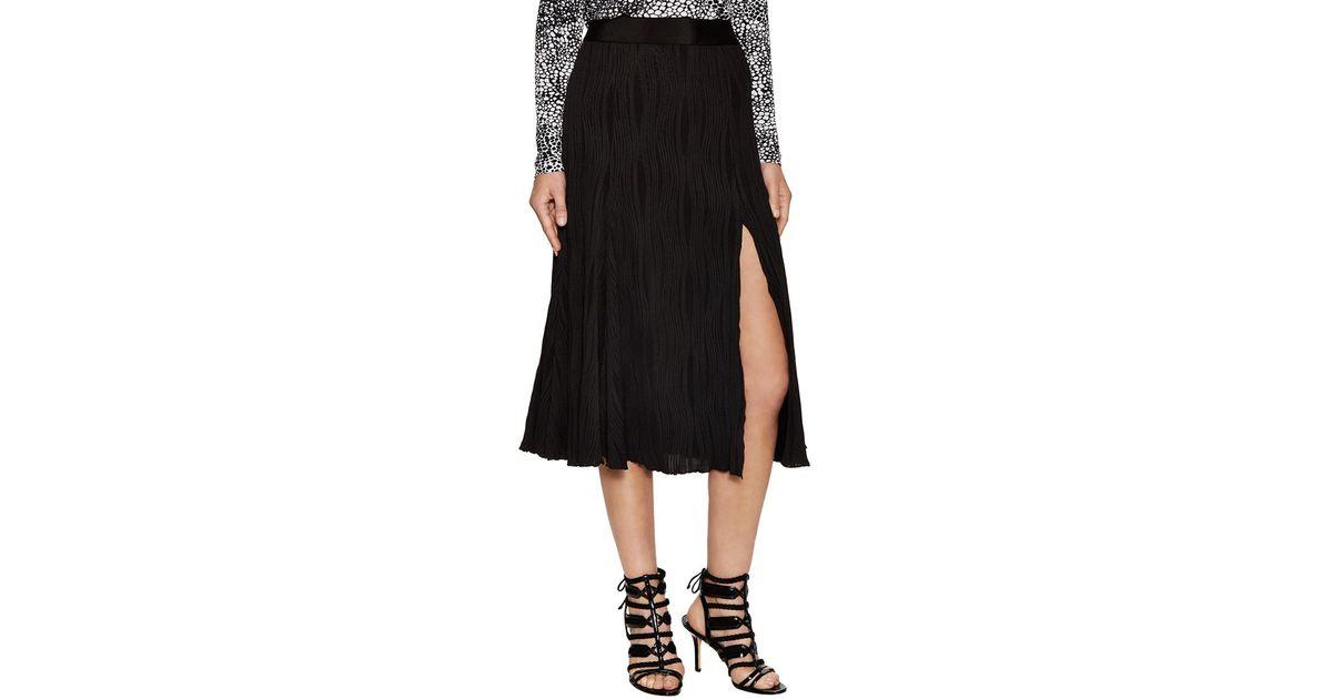 1e365ecc3a Prabal Gurung Jersey Pleated Skirt in Black - Lyst
