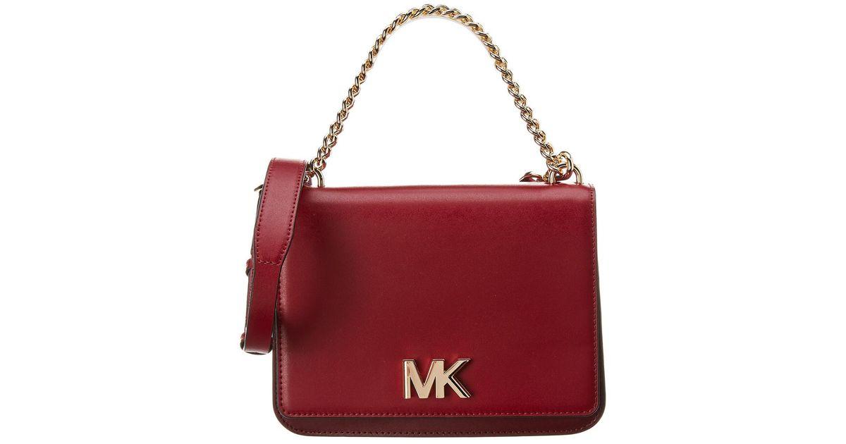 33c46092288 MICHAEL Michael Kors Michael Kors Mott Large Chain Swag Leather Shoulder -  Lyst