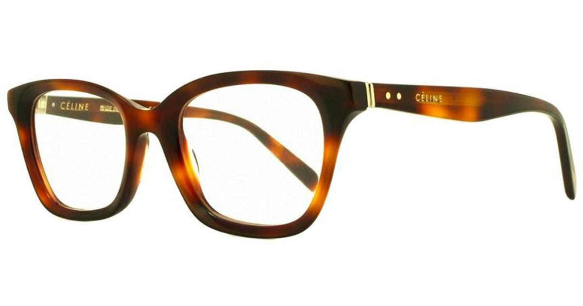 2e78a2d5f0e Lyst - Céline Céline Women s Cl 41465-086 48mm Optical Frames in Brown