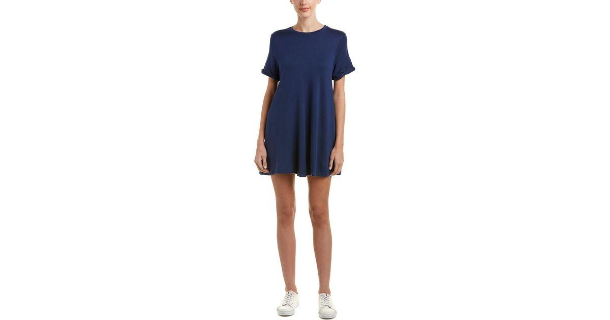 57670087c2 Lyst - Good Hyouman Olivia T-shirt Dress in Blue - Save 17%