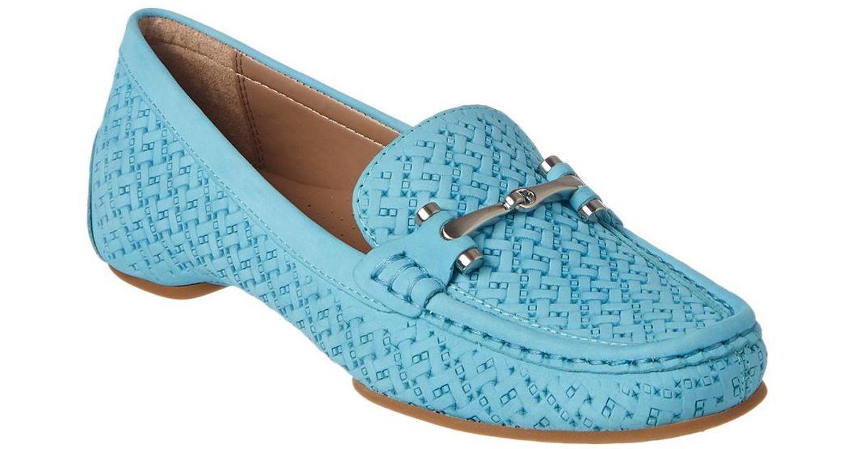 8f06601ec0d Lyst - Donald J Pliner Filo Leather Loafer in Blue