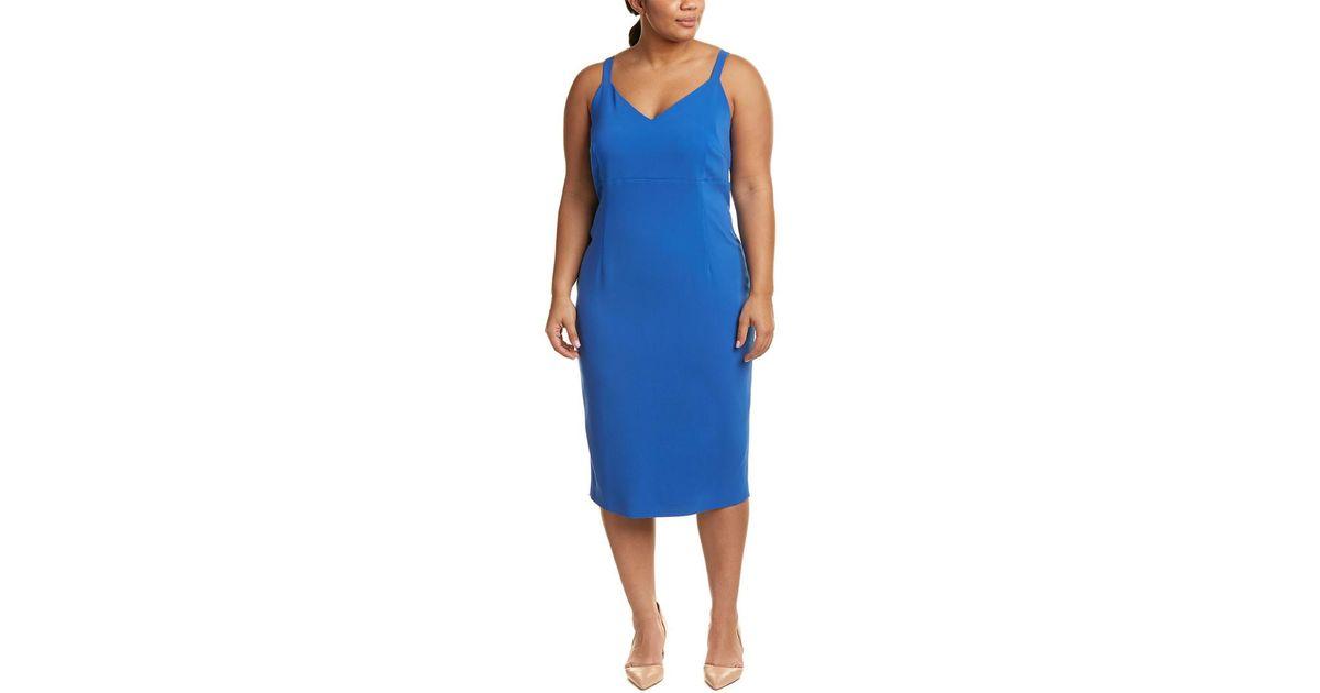 065833a5d3b Lyst - Marina Rinaldi Plus Durare Sheath Dress in Blue