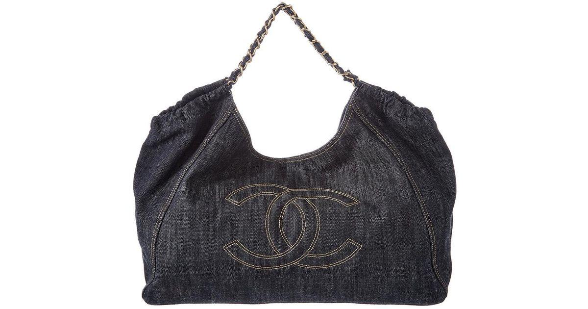 111c855544b7 Chanel Limited Edition Blue Denim Large Coco Cabas Bag in Blue - Lyst