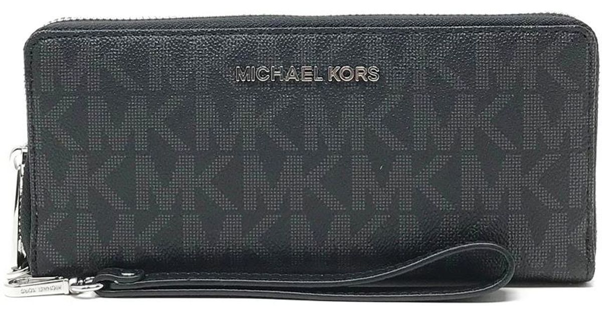 77640ad2bed3 Lyst - Michael Michael Kors Jet Set Travel Continental Wallet in Black