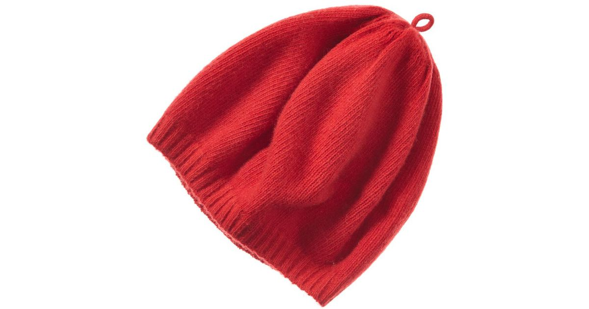eed4d4639effe Lyst - Portolano Cashmere Beret in Red