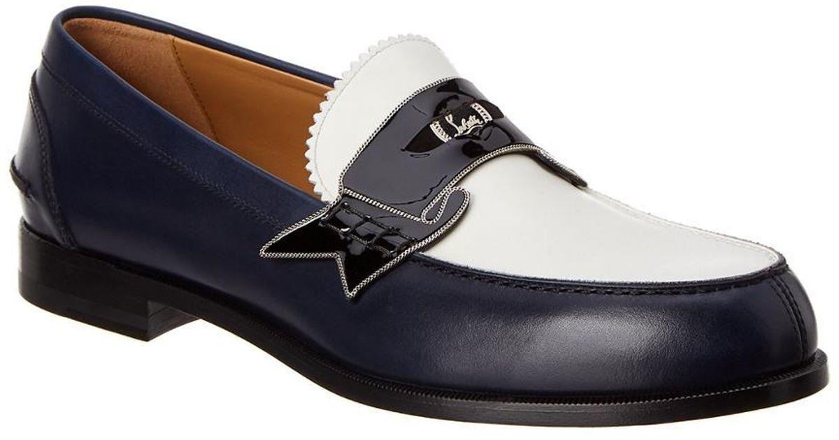 7b8f113e959e Lyst - Christian Louboutin Monono Leather Loafer in Blue for Men