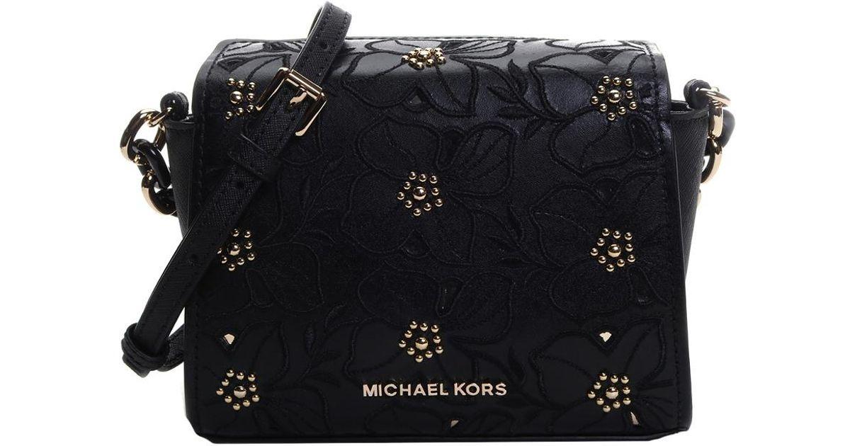 3dd032ba479f28 Lyst - Michael Kors Sofia Small Leather Crossbody in Black