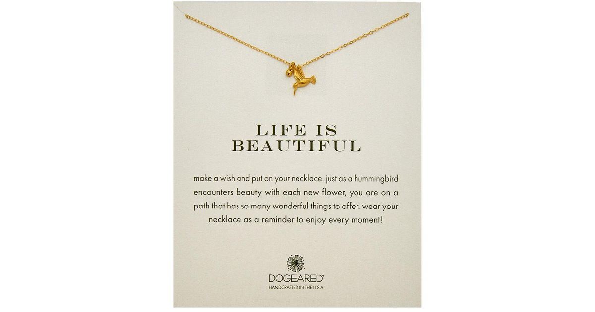 b2451f569 Dogeared 14k Gold Over Silver Life Is Beautiful Necklace in Metallic - Lyst