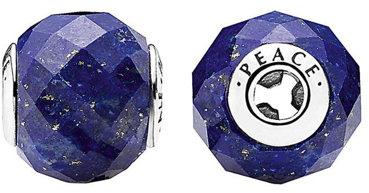7fdc9c55e PANDORA The Essence Collection Silver Lazuli Peace Charm in Blue - Lyst