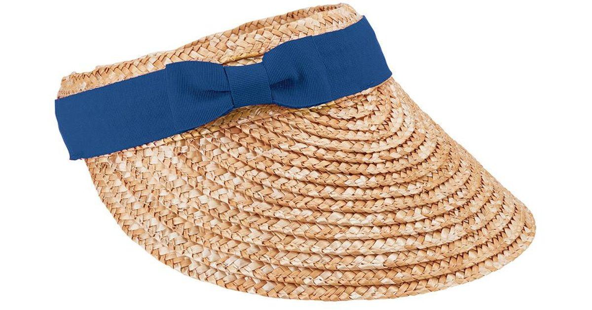 2fcb8326 Lyst - San Diego Hat Company Women's Wheat Straw Visor in Blue