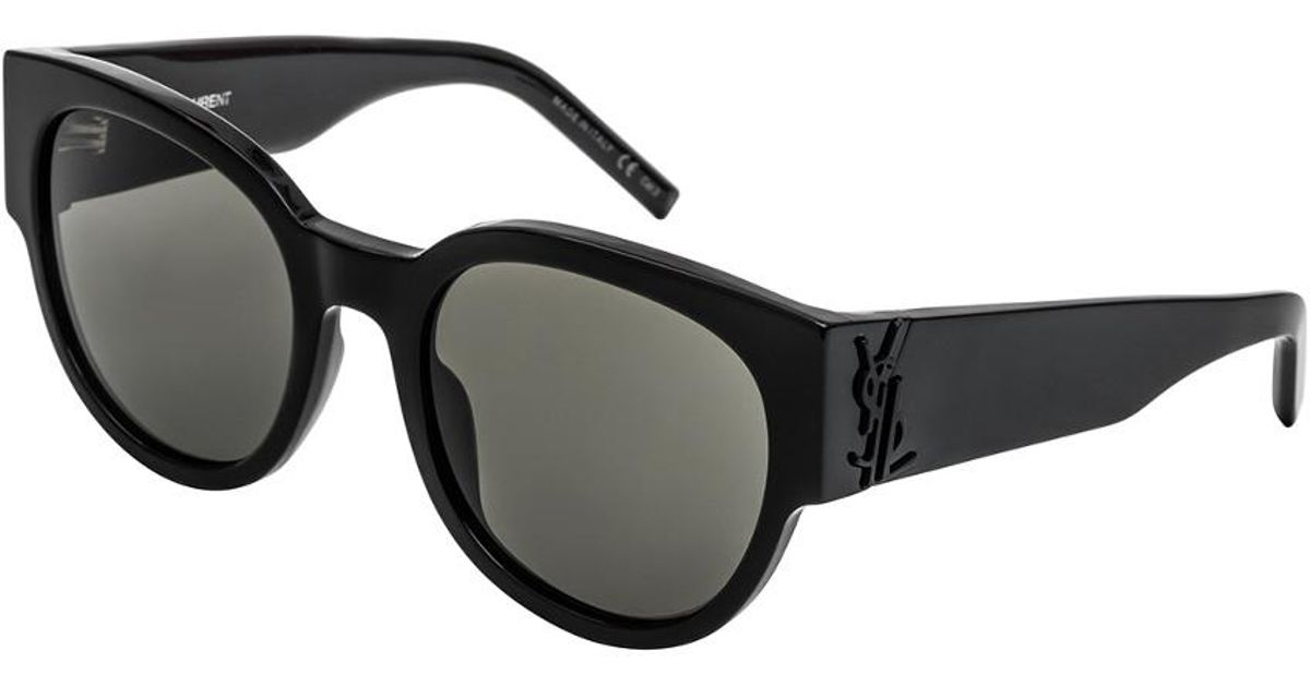 ed0e9b5859 Lyst - Saint Laurent Women s Slm19 54mm Sunglasses in Black