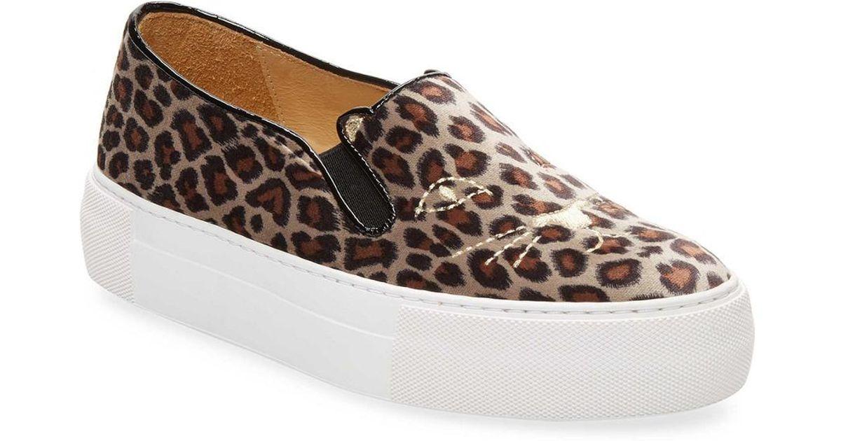 f65b37385b8f Lyst - Charlotte Olympia Leopard-print Platform Sneaker