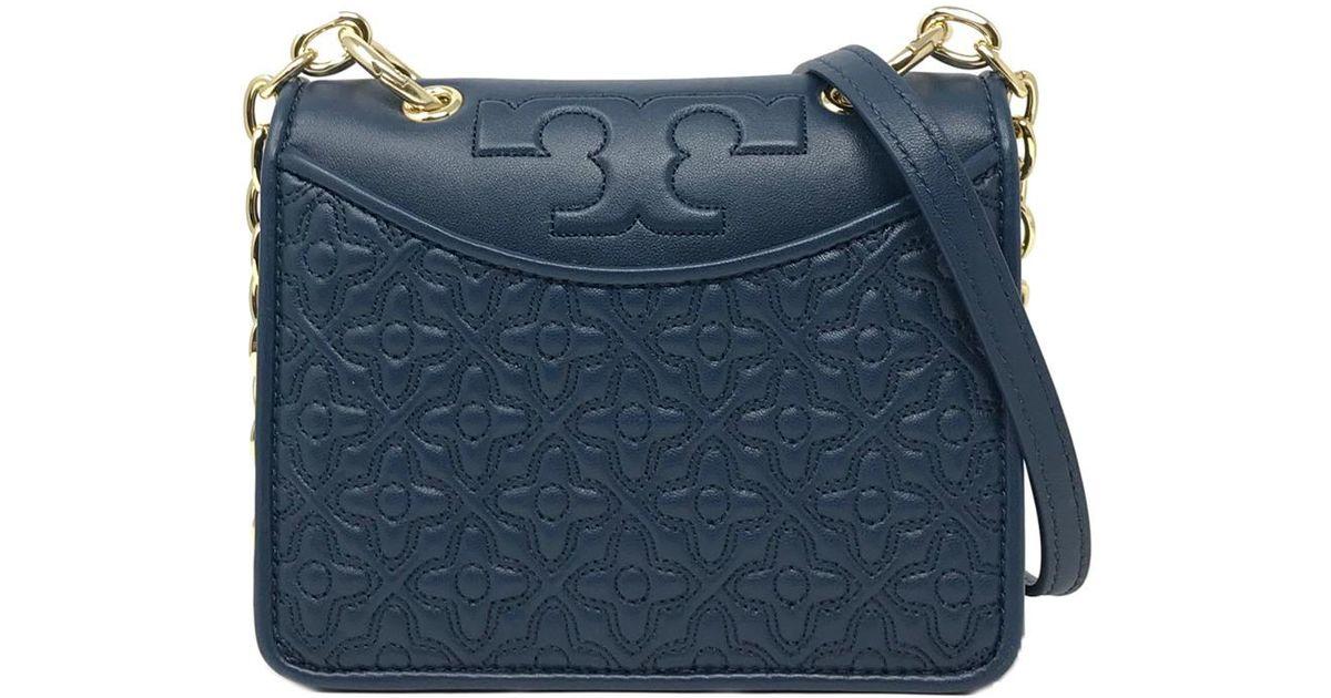 a8dee48744c Tory Burch Bryant Mini Shoulder Bag in Blue - Lyst