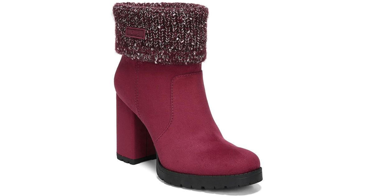 3c81c88560be28 Lyst - Circus by Sam Edelman Carter Bootie in Red - Save 50.847457627118644%