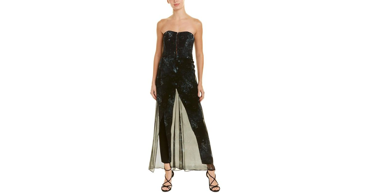 da1e0b826cc Lyst - Haute Hippie Ginny Silk Jumpsuit in Black - Save 1%