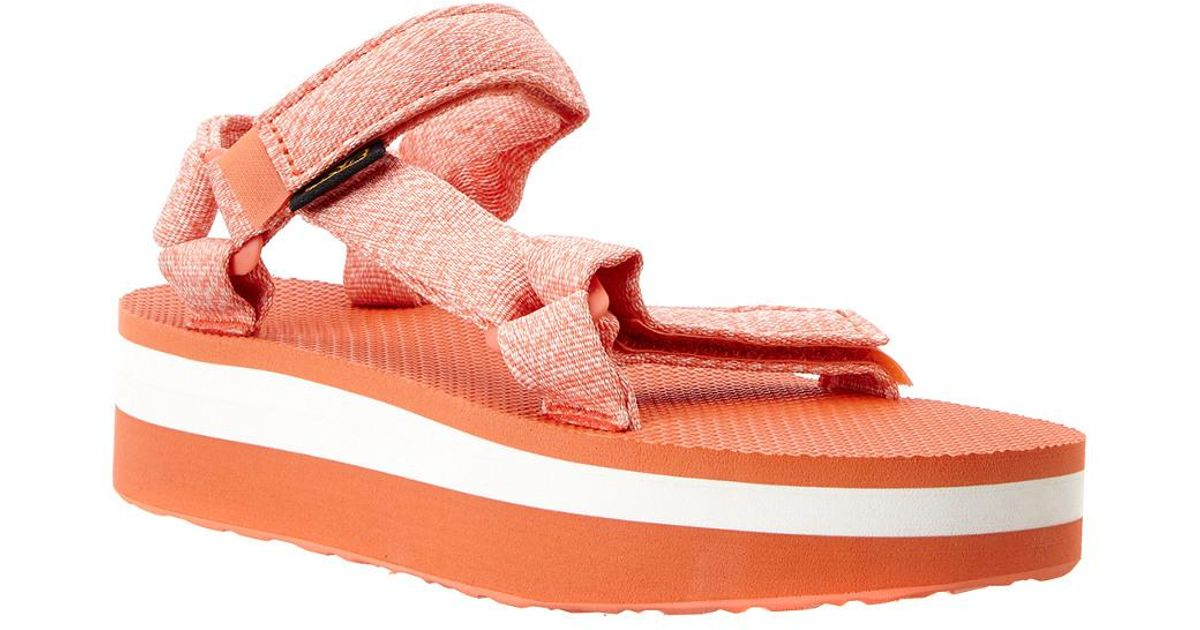 6aa5702c7d88e7 Lyst - Teva Flatform Universal in Orange