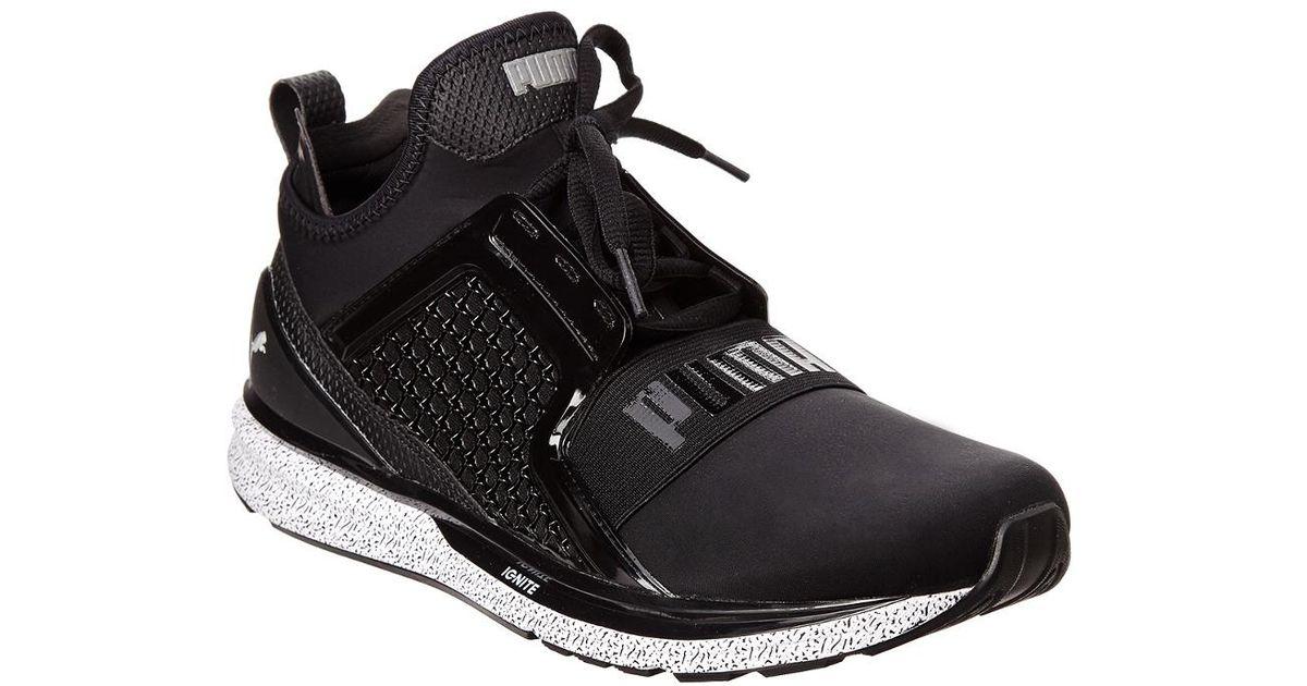 6615d4768c1 Lyst - Puma Men s Ignite Limitless Snow Splatter Running Shoe in Black for  Men