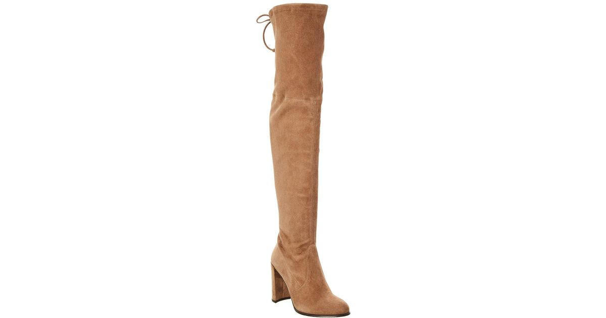 a30ada2bbe0 Lyst - Stuart Weitzman Tieland Suede Over-the-knee Boot in Brown