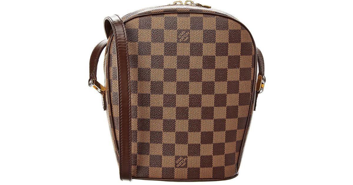 ff120b0799789 Lyst - Louis Vuitton Damier Ebene Canvas Ipanema Pm in Brown