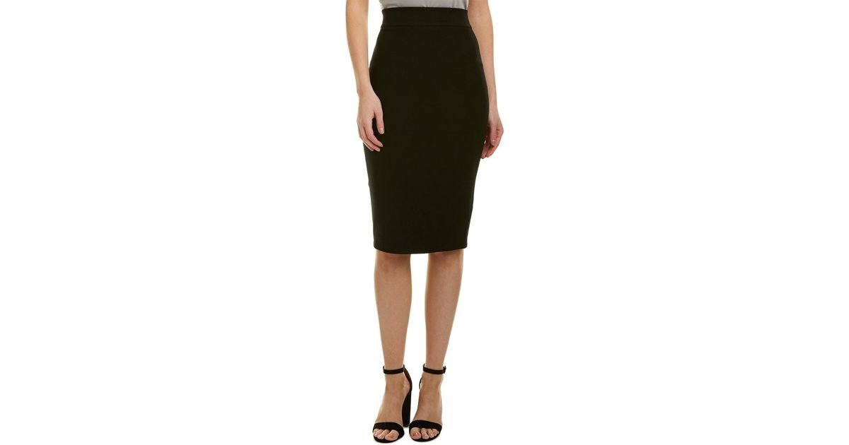 3f160036dc Lyst - James Perse Zip Back Pencil Skirt in Black